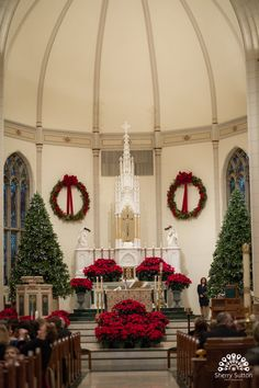 christmas wedding church ceremony christmas trees unique creative and fun photography for - Christmas Church Decorations