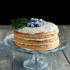 Delicious poppyseed cake with dulce de leche (in Slovak)
