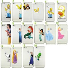 HOMER SIMPSONS SNOW WHITE IPHONE 4 4S 5 5S 5C CASE COVER HARD PLASTIC DISNEY CHARACTERS CASES ALL IPHONE MODELS