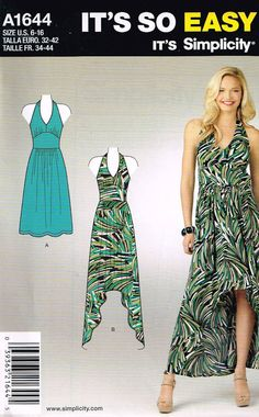 Simplicity 1644 Sewing Pattern It's So Easy Misses by OhSewWorthIt, $2.75