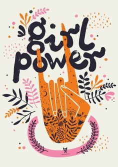 "PLAKAT Z NAPISEM ""GIRL POWER"" JASNY Pan Lis Teen Kids, Girl Power, Playing Cards, Art, Playing Card Games, Game Cards"