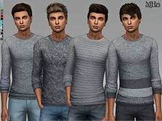 The Sims Resource: Jerome Sweaters by Margeh-75 • Sims 4 Downloads