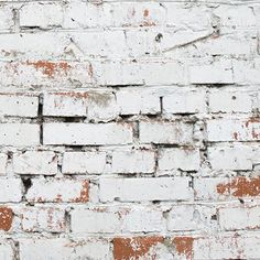 This white Warehouse Brick Wallpaper, is a cool textured brick mural that will effortlessly create an urban chic vibe. Exposed brick style that is very on trend. Brick Wallpaper Mural, Brick Pattern Wallpaper, White Brick Wallpaper, Bedroom Wallpaper, Painted Brick Walls, White Brick Walls, Red Walls, Bedroom Murals, Wall Murals