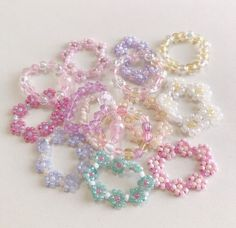 Cute Jewelry, Diy Jewelry, Jewelery, Jewelry Accessories, Handmade Jewelry, Jewelry Making, Bead Jewellery, Beaded Jewelry, Beaded Rings