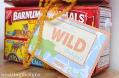 Preschool valentine, wild about you valentine, Valentine's Day Gift for kids, Kindergarten valentine