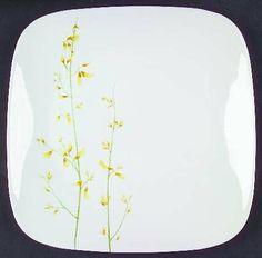 Corning Kobe Dinner Plate, Fine China Dinnerware by Corning. $7.99. Corning - Corning Kobe Dinner Plate - Square,Yellow Floral Stems,No Trim