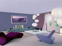 Id e peinture salon moderne idee deco maison projets for Peindre un salon