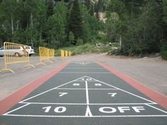 12 Best Shuffleboard Courts Ideas Shuffleboard Outdoor Basketball Court Outdoor Shuffleboard