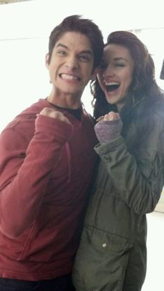 I know Tyler Posey is engaged but he is adorable with Crystal Reed.
