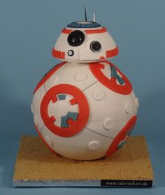 BB-8 cake tutorial