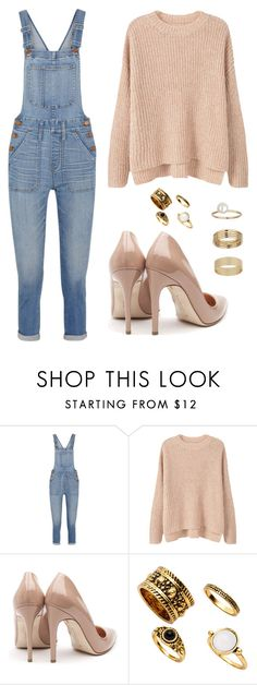 """Untitled #91"" by ridzley on Polyvore featuring Madewell, MANGO, Rupert Sanderson and Miss Selfridge"