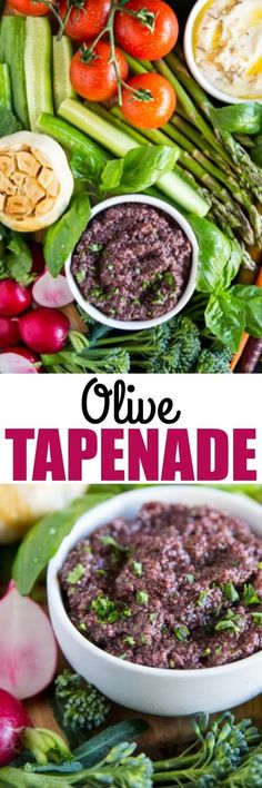 Make this easy Olive Tapenade for your next party spread, sandwich, or pizza garnish! Best of all, it comes together in minutes. via @culinaryhill