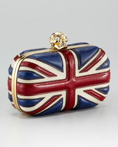 Britannia Skull-Clasp Clutch Bag by Alexander McQueen at Neiman Marcus.    for all my friends looking to buy me a $1600.oo gift!
