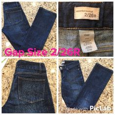 Gap Women's Essential Bootcut Jeans Size 2/26R Great Condition! 31 inches long. GAP Jeans Boot Cut