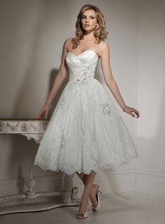 Wedding Dresses Pictures - A-Line Ball Gown Strapless Sweetheart Natural Waist Satin Organza Wedding Dress - Style WD5776