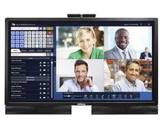 Videoconferencing on a 57-inch InFocus Mondopad