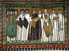 May 5, 553 – The Second Council of Constantinople begins. From May 5 to June 2, 553. Second Council of Constantinople also known as the Fifth Ecumenical Council.     Court of Emperor Justinian I, who initiated the Second Council of Constantinople with (right) archbishop Maximian and (left) court officials and Praetorian Guards; Basilica of San Vitale in Ravenna, Italy.