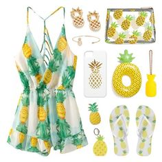 """""""Fruity Summer"""" by lgb321 ❤ liked on Polyvore featuring Humble Chic, Bing Bang, Skinnydip, Big Mouth, Forever 21, LC Lauren Conrad, Sunnylife, Summer, pineapple and polyvoreeditorial"""