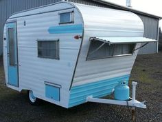 vintage canned ham 1964 Aladdin travel trailer in RVs & Campers | eBay Motors