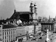 Linz Hauptplatz und alter Dom Anf. 20. Jahrhundert