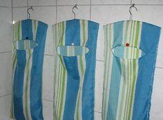 Wäschesack aus Duschvorhang nähen