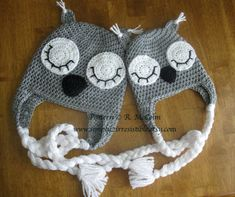Sleepy Owl Hat Pattern - Crochet Pattern 25 - us and uk Terms Available - Newborn to Adult Sizes Included - INSTANT DOWNLOAD