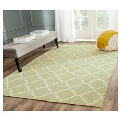 Robbie Area Rug - Light Green / Ivory (4' X 6') - Safavieh, Light Green/Ivory