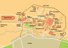 Karta Jerash - Jerash - Wikipedia, the free encyclopedia