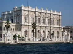 Part of the Dolmabache Palace on the Bosphorus