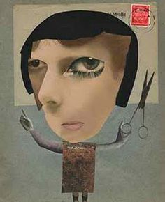 """Alan Magee, """"Portrait of Hannah Höch,"""" digital photomontage on dye sub paper, 10 x 8 inches. Hannah Hoch was one of the few women associated with the Dada movement and a pioneer of photomontage. Dada Collage, Art Du Collage, Collage Artists, Mixed Media Collage, Canvas Collage, Collages, Photomontage, Hannah Hock, Hannah Hoch Collage"""