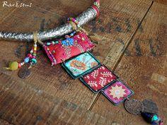 Collier bohémien coloréstyle vintagecollier rustiquestyle
