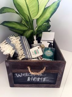 DIY Housewarming Gifts - Housewarming Gift In A Crate- Best Do It Yourself Gift Ideas for Friends With A New House, Home or Apartment - Creative, Cheap and Quick Crafts and DIY Ideas for Housewarming Presents - Mason Jar Gifts, Baskets, Gifts for Women and Men diyjoy.com/...