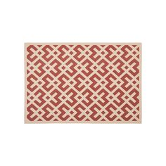 Safavieh Courtyard Geometric Indoor Outdoor Rug, Orange #OutdoorRugs