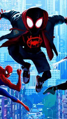 Miles Morales, Spider-Gwen, Peter Parker, Spider-Man: Into theSpider-Verse, Wallpaper Spiderman Girl, Black Spiderman, Amazing Spiderman, Avengers Art, Marvel Art, Marvel Heroes, Lucas 8, Miles Morales Spiderman, Iron Man Armor
