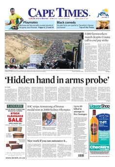 News making headlines: 'Hidden hand in arms probe'