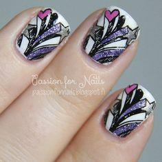 Flying stars #passionfornails #polish #mani #nailart - bellashoot.com