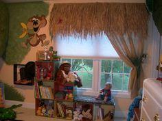 Jungle Themed Child Bedroom By Sandi Gaddes, Book Shelves, Window  Treatments, Boys Room