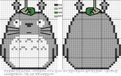 Totoro for cross stitch pattern. I am so making this