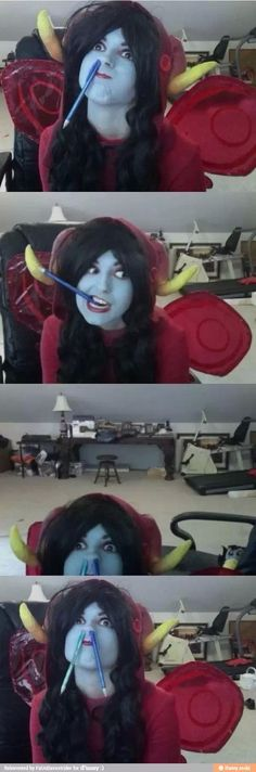 The best Aradia cosplay that ever got happened.== This is the same cosplayer that got stuck upstairs because her sister brought friends.
