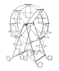 Look at this #zulilyfind! Silver Ferris Wheel Cupcake Holder #zulilyfinds