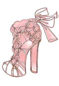 pretty shoe sketch
