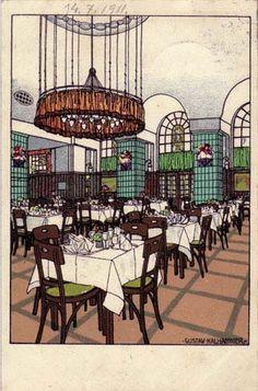 408. Gustav Kalhammer - Wiener Werkstatte postcard