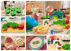 Very Hungry Caterpillar birthday. I don't know why but I love very hungry caterpillar stuff! First Birthday Party Themes, Birthday Fun, Birthday Ideas, Birthday Banners, Birthday Board, Birthday Invitations, Chenille Affamée, Hungry Caterpillar Party, Party Time