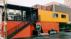 shipping container coffee shop el paso - YouTube