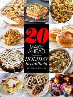 20 Make-Ahead Holiday Breakfasts   foodiecrush.com