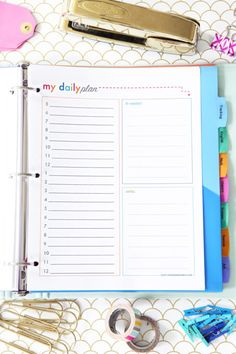 Daily Planning Time Blocking Printable, Student Binder with Free Printables for Back-to-School, study aids, high school organization, college organization, middle school organization, pretty printables, printables for girls, printables for boys, resources for students, back to school, graduation gift, student organization, teacher printables