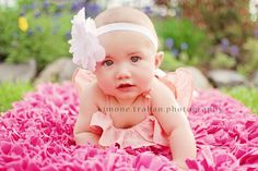 6 month / photography -- Cute picture for Kaitlyn! 6 Month Photography, Little Girl Photography, Love Photography, Children Photography, Newborn Photography, Toddler Photos, Baby Girl Photos, Baby Pictures, Cute Pictures
