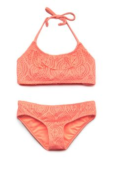 Crocheted Swimsuit (Kids) | FOREVER21 girls - 2000088370