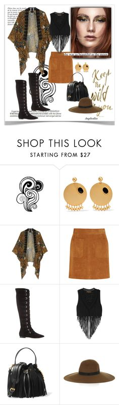 """""""she was as beautiful as the moon"""" by angelicallxx ❤ liked on Polyvore featuring Whiteley, Anja, Paula Mendoza, Anna Sui, Frame Denim, Giamba, Roberto Cavalli, Moschino, Maison Michel and packforcoachella"""