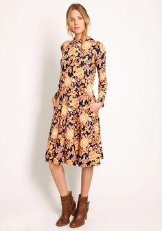 Padma Floral Dress In Mauve